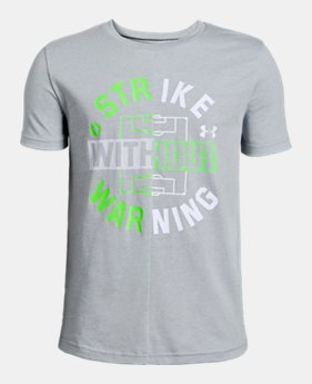 b74fa3b07f8f Boys  UA Strike Without Warning Short Sleeve 1 Color Available  25