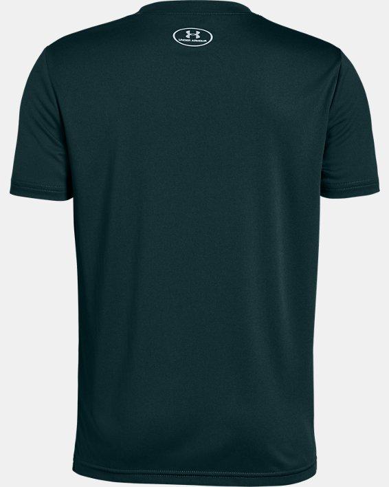 Boys' UA Swagger On Deck Short Sleeve, Green, pdpMainDesktop image number 1