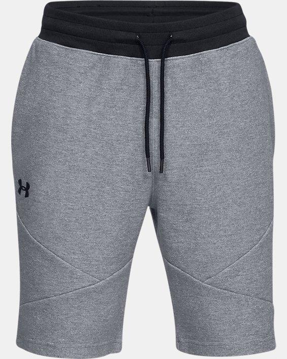 Men's UA Unstoppable Double  Knit Shorts, Gray, pdpMainDesktop image number 4
