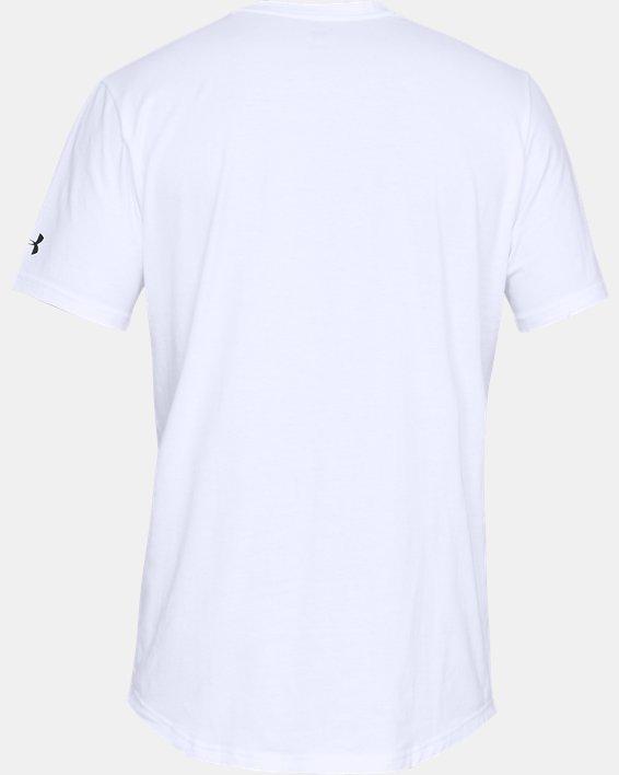 Men's UA Sportstyle Woven Script T-Shirt, White, pdpMainDesktop image number 4