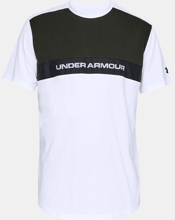Men's UA Sportstyle Woven Script T-Shirt, White, pdpMainDesktop image number 3