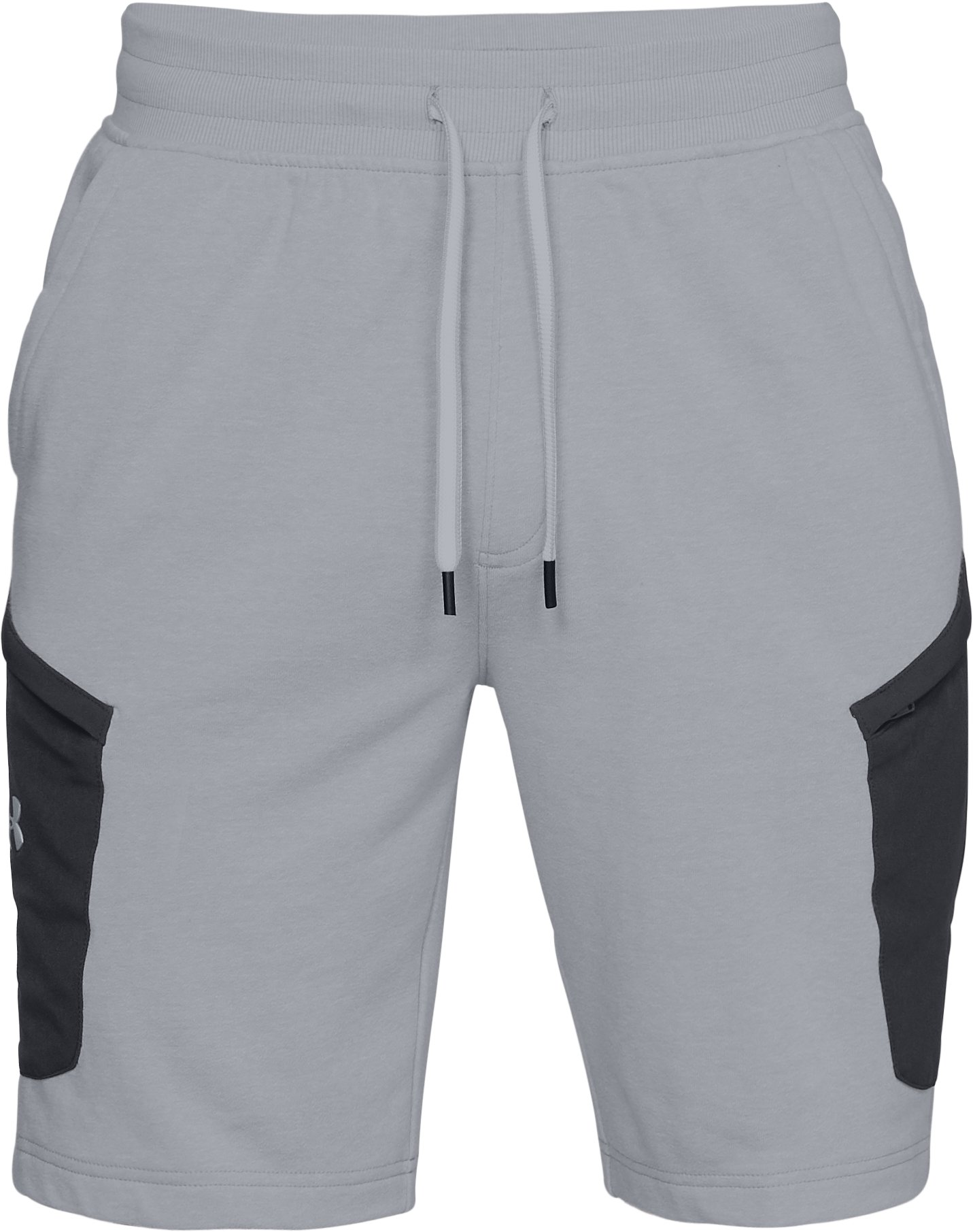 Men'a UA Microthread Terry Shorts, Overcast Gray Light Heather,