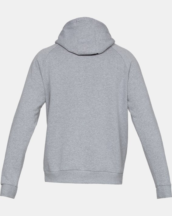 Men's UA Rival Fleece Logo Hoodie, Gray, pdpMainDesktop image number 4