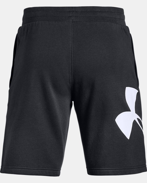Men's UA Rival Fleece Logo Shorts, Black, pdpMainDesktop image number 4