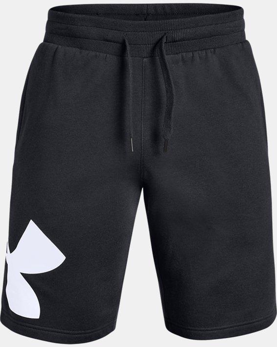Men's UA Rival Fleece Logo Shorts, Black, pdpMainDesktop image number 3