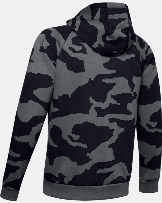 Men's UA Rival Fleece Camo Full Zip Hoodie, Gray, pdpMainDesktop image number 5