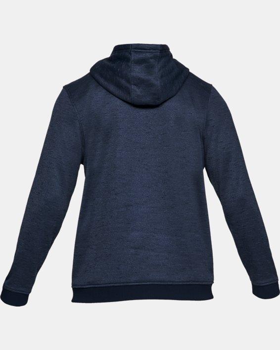Men's Armour Fleece® ½ Zip Hoodie, Navy, pdpMainDesktop image number 5
