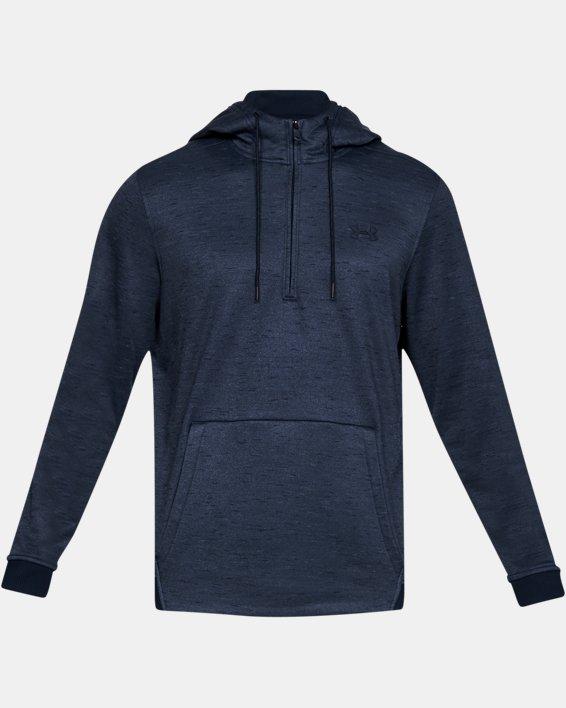 Men's Armour Fleece® ½ Zip Hoodie, Navy, pdpMainDesktop image number 4