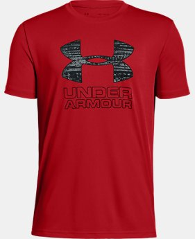 Boys' UA Print Fill Logo T-Shirt  1  Color Available $15