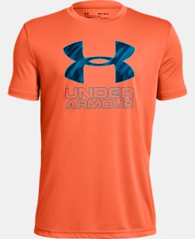 New Arrival Boys' UA Print Fill Logo T-Shirt  3  Colors Available $20