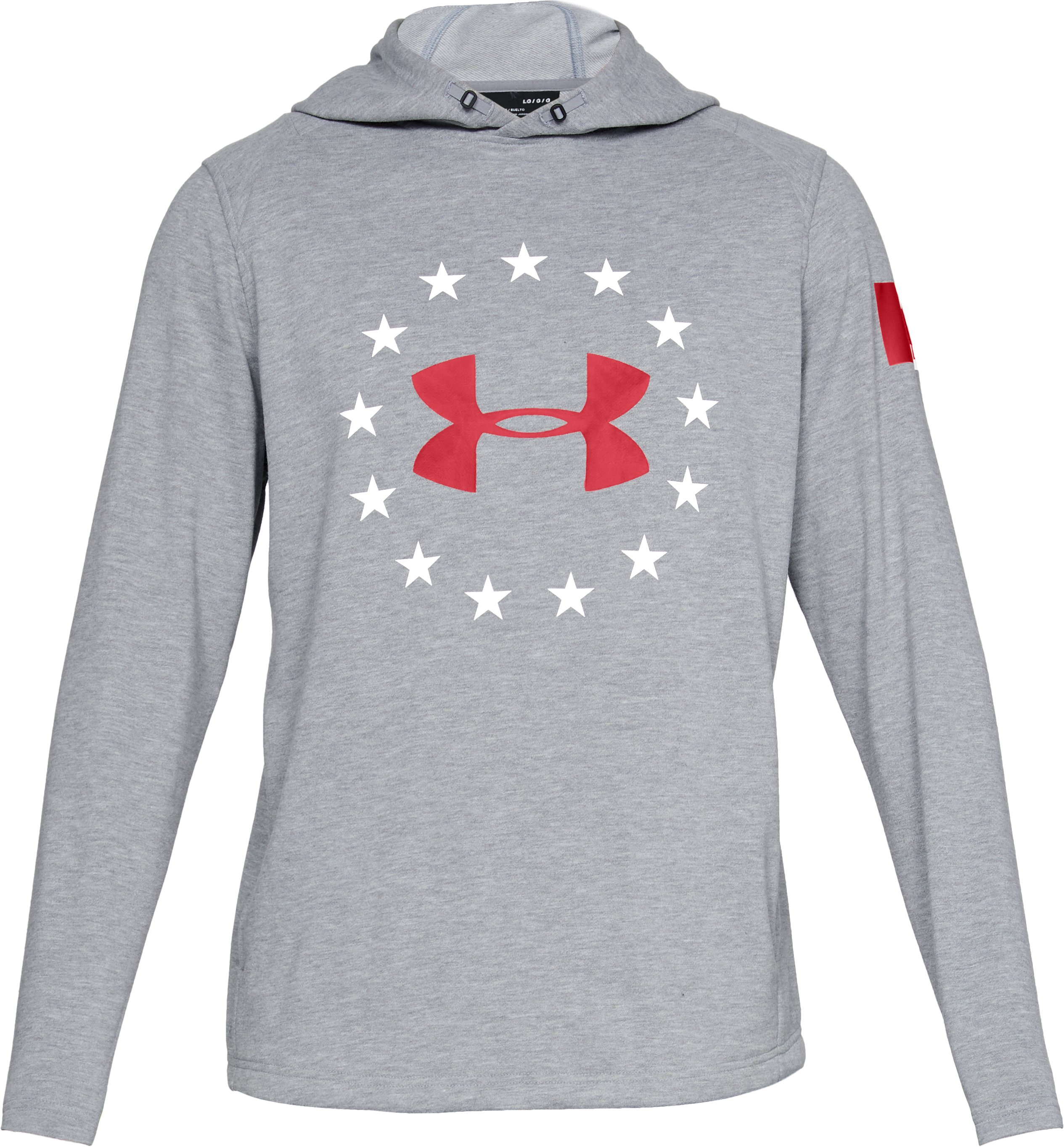 Men's UA Freedom Canada Tech Terry Hoodie, STEEL MEDIUM HEATHER,