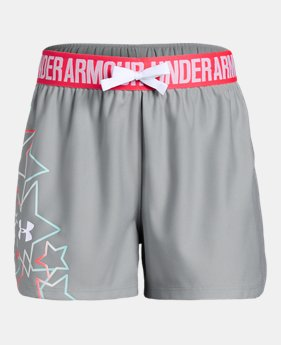 91f80a7553a Girls  UA Americana Play Up Shorts 1 Color Available  25