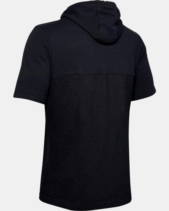 Men's UA Sportstyle Short Sleeve Hoodie, Black, pdpMainDesktop image number 5