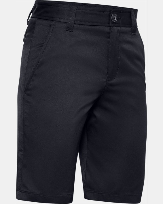 Boys' UA Match Play Golf Shorts, Black, pdpMainDesktop image number 0