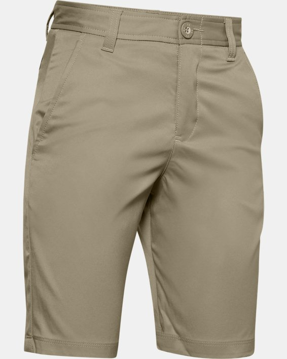 Boys' UA Match Play Golf Shorts, Brown, pdpMainDesktop image number 0