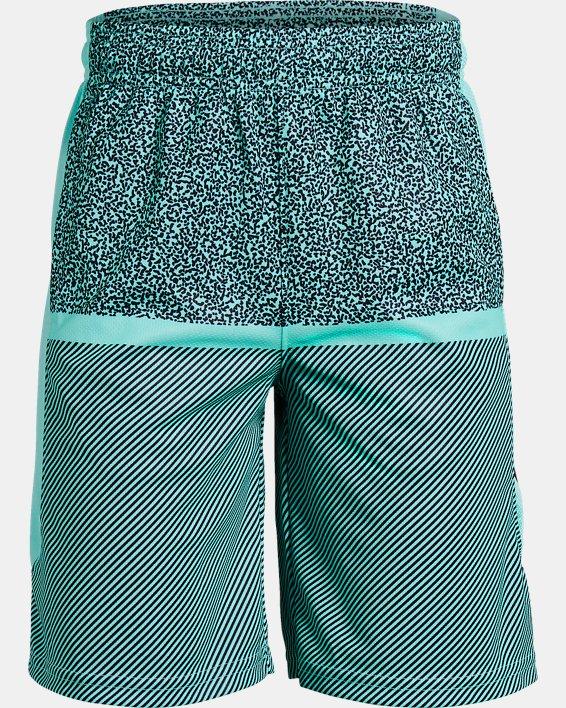 Boys' UA Baseline Shorts, Blue, pdpMainDesktop image number 0