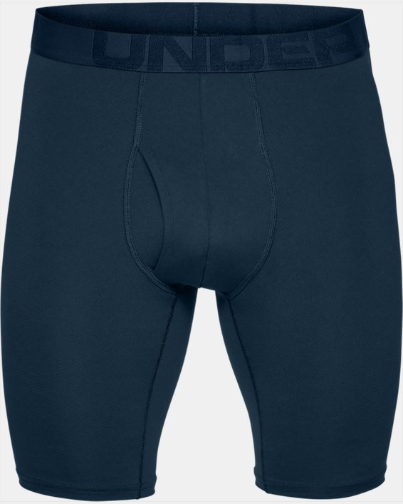 "Men's UA Tech™ Mesh 9"" Boxerjock® – 2-Pack, Navy, pdpMainDesktop image number 2"