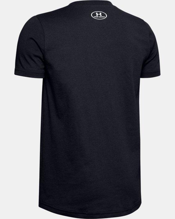 Haut à manches courtes UA Sportstyle Logo pour garçon, Black, pdpMainDesktop image number 1