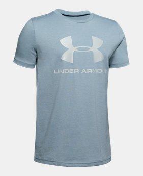 6053dd93a Boys' UA Sportstyle Logo Short Sleeve 4 Colors Available $20