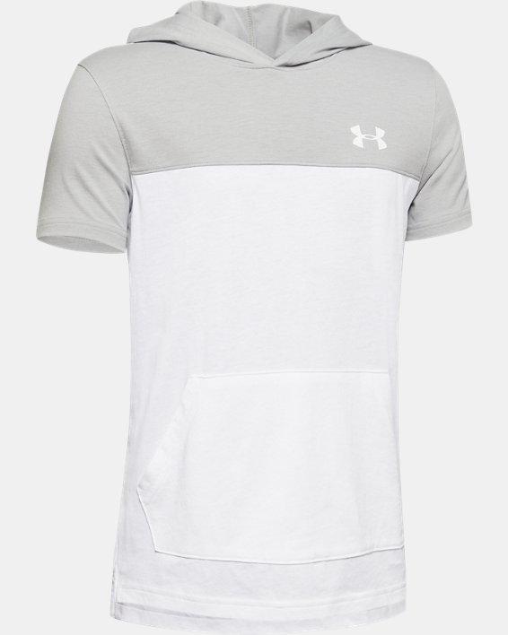 Boys' UA Sportstyle Hoodie, White, pdpMainDesktop image number 0