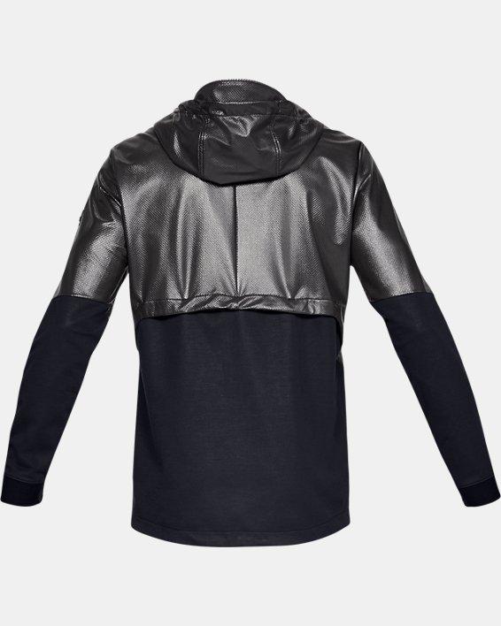 Men's UA Hybrid Windbreaker Jacket, Black, pdpMainDesktop image number 5