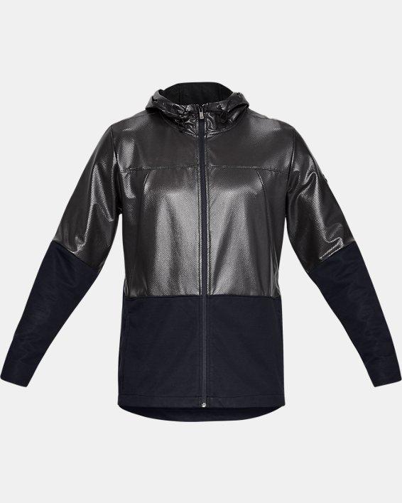 Men's UA Hybrid Windbreaker Jacket, Black, pdpMainDesktop image number 4