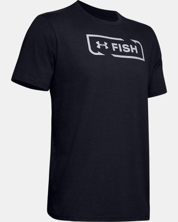 Men's UA Fish Logo T-Shirt, Black, pdpMainDesktop image number 4