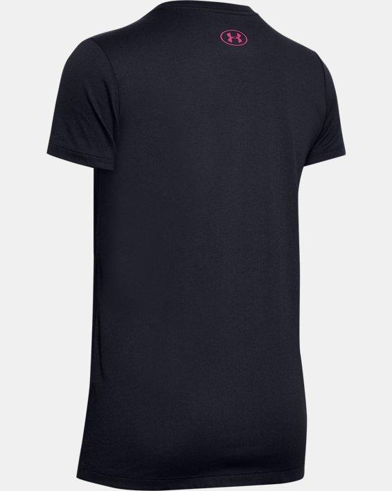 Women's UA Fish Hook Logo T-Shirt, Black, pdpMainDesktop image number 5