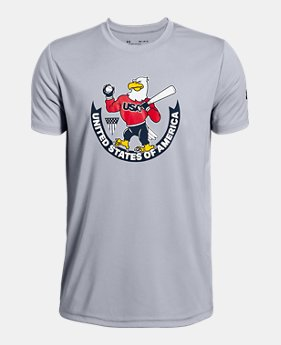 c90bd336f Boys' UA USA Eagle Short Sleeve T-Shirt 1 Color Available $20