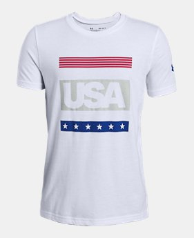 a7f1af5ff Boys' UA Americana Short Sleeve T-Shirt 1 Color Available $20