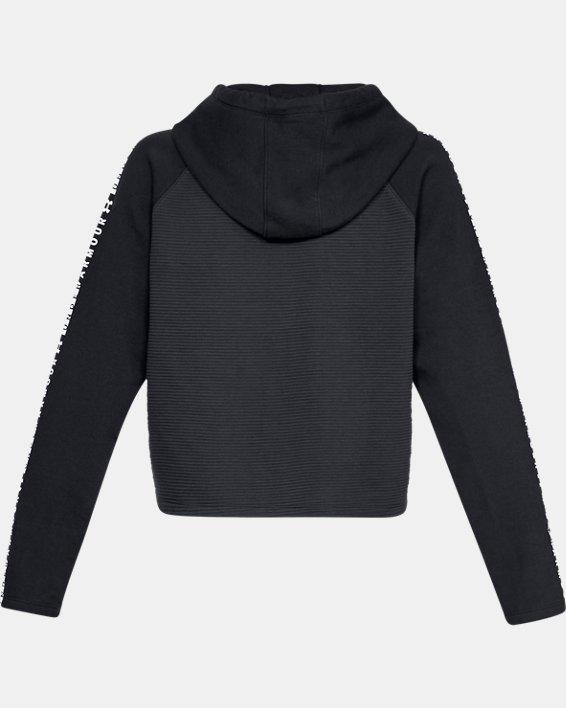 Women's UA Microthread Fleece Hoodie, Black, pdpMainDesktop image number 5