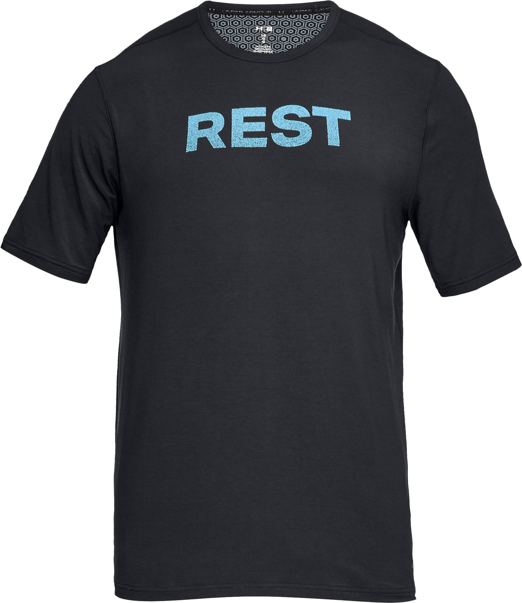 Men's Athlete Recovery Ultra Comfort Sleepwear REST Graphic T-Shirt, Black , undefined