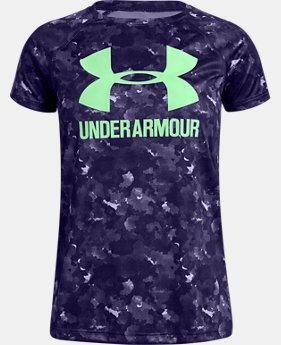 Girls' UA Big Logo Novelty T-Shirt  3  Colors Available $25