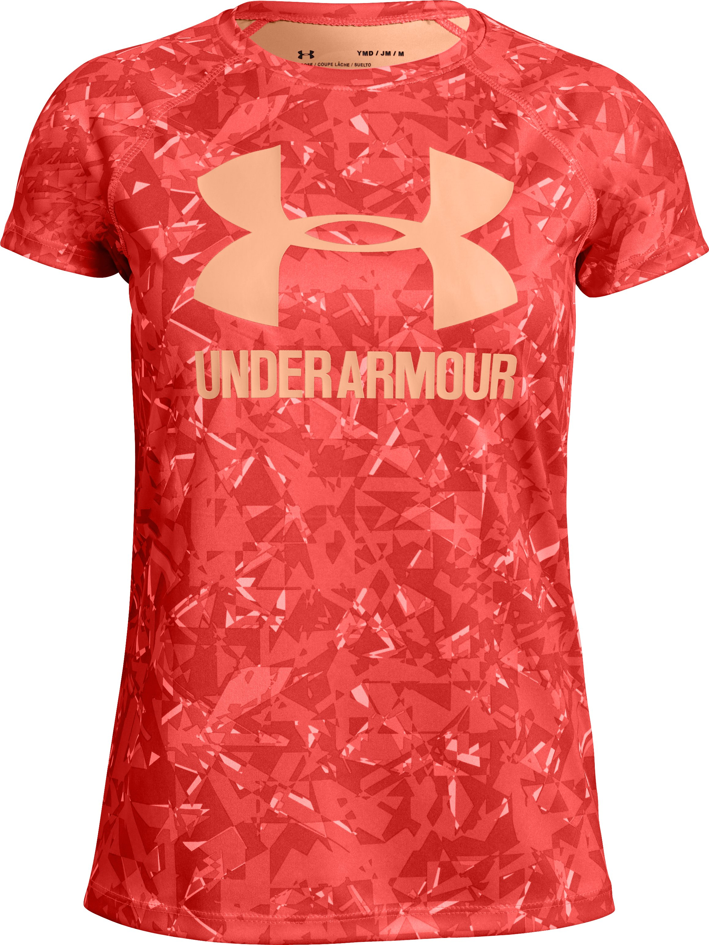 Girls' UA Big Logo Novelty T-Shirt, AFTER BURN,