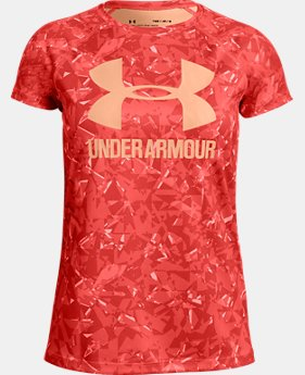 Girls' UA Big Logo Novelty T-Shirt  1  Color Available $25
