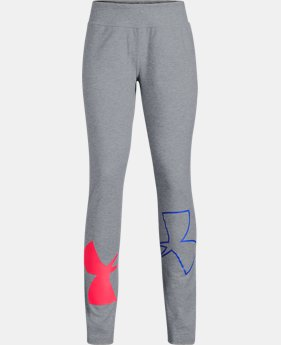New Arrival Girls' UA Finale Leggings  2  Colors Available $35
