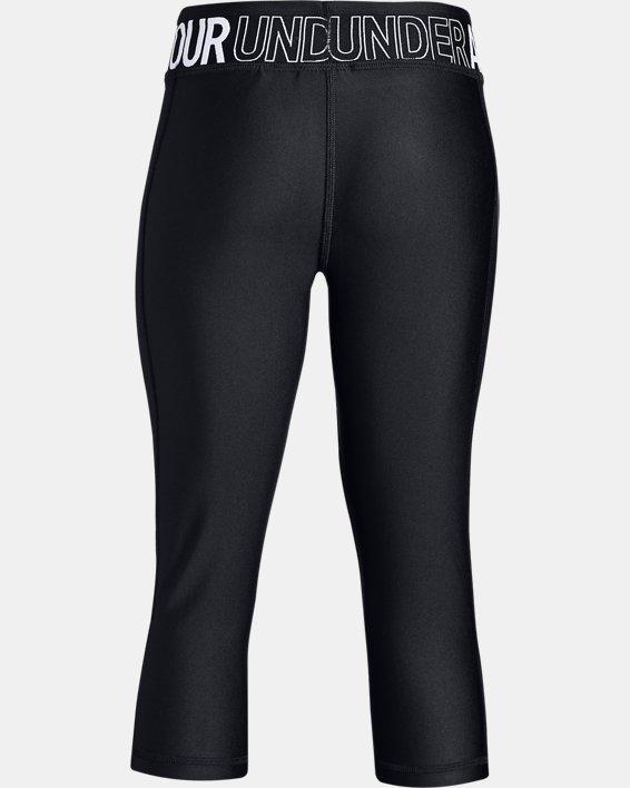 Girls' HeatGear® Armour Capri, Black, pdpMainDesktop image number 5