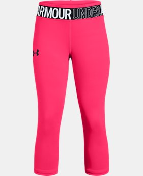 Girls' HeatGear® Armour Capri  2  Colors Available $30