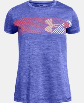 Girls' UA Hybrid Big Logo Short Sleeve T-Shirt   $20