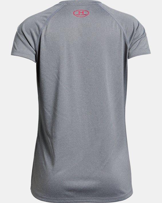 Girls' UA Big Logo Solid T-Shirt, Gray, pdpMainDesktop image number 1