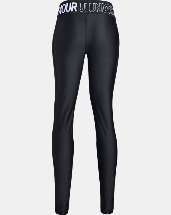 Girls' HeatGear® Armour Leggings, Black, pdpMainDesktop image number 5