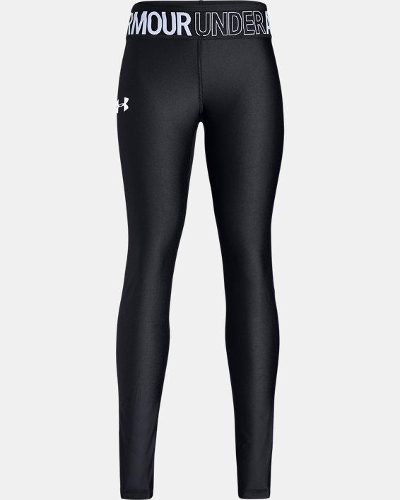 Girls' HeatGear® Armour Leggings, Black, pdpMainDesktop image number 4