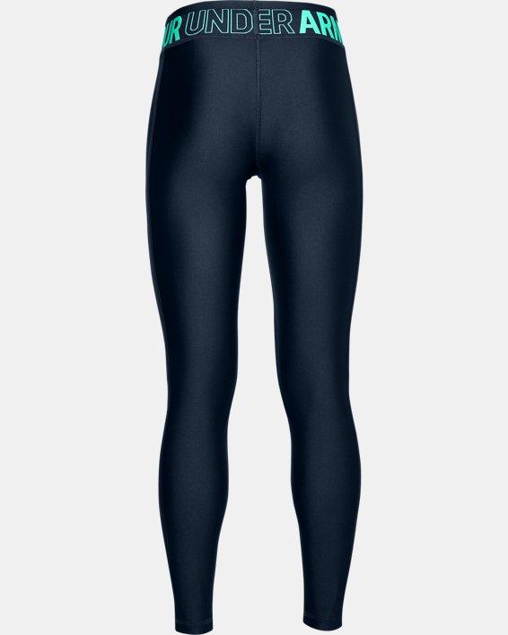 Girls' HeatGear® Armour Leggings, Navy, pdpMainDesktop image number 1