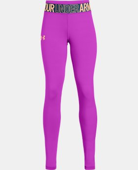 Girls' HeatGear® Armour Leggings  3  Colors Available $35