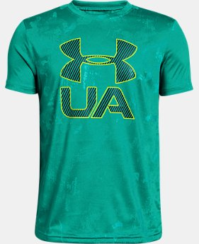 New Arrival Boys' UA Printed Crossfade Short Sleeve T-Shirt FREE U.S. SHIPPING 1  Color Available $25