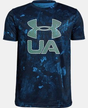Boys' UA Printed Crossfade Short Sleeve T-Shirt  1  Color Available $25
