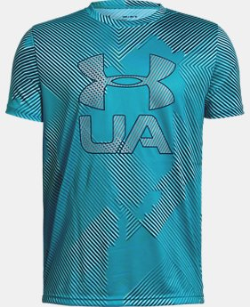 New Arrival  Boys' UA Printed Crossfade Short Sleeve T-Shirt  2  Colors Available $32