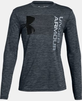 Boys' UA Crossfade Long Sleeve  3  Colors Available $25