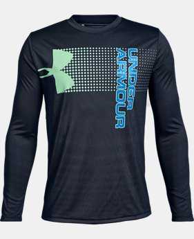 Boys' UA Crossfade Long Sleeve  5  Colors Available $25