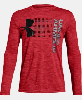 Boys' UA Crossfade Long Sleeve  3  Colors Available $35